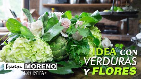 Video Crear un arreglo con verduras y flores